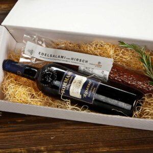 Feinkost-Loepfe-Geschenke-Wein-Salami